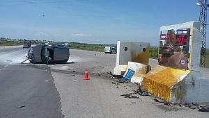 Biga'da Trafik Kazası: 1 Yaralı