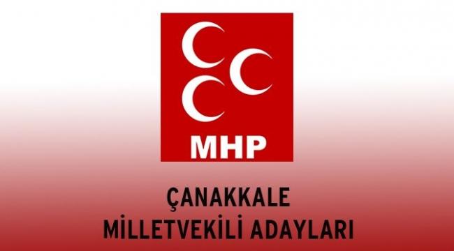 MHP Çanakkale Millet Vekili Adayları Belli Oldu