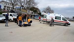 Biga'da 2 Motosiklet Kafa Kafaya Çarpıştı