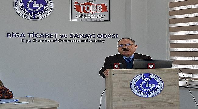 BİGA TSO'DA PLASTİK POŞET TOPLANTISI YAPILDI