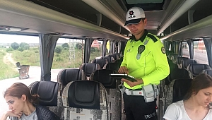 Biga'da Polis ve Jandarma Ekiplerinden Ortak Denetim
