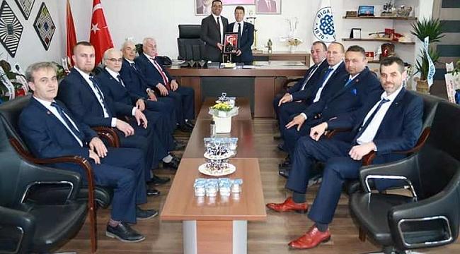 Biga Kahveciler Odası, Başkan Erdoğan'a 'hayırlı olsun' ziyaretinde Bulundu