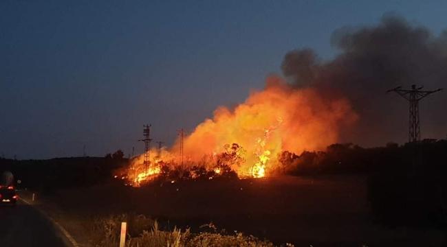 Kemer Köyünde Korkutan Yangın