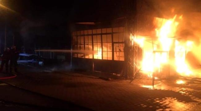 Biga'da korkutan yangın