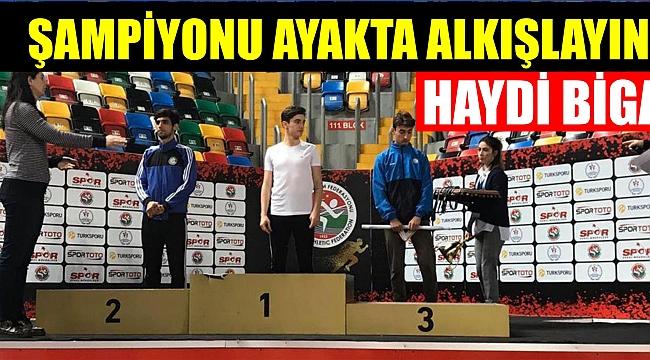 Biga'nın ilk milli atleti Anıl!