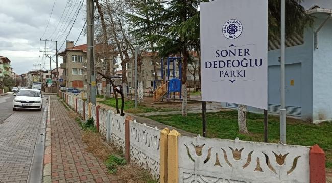 Soner Dedeğoğlu'nun İsmi Parkta Yaşayacak