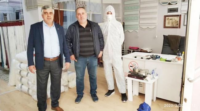 ESNAF VE SANATKARLARIN İŞYERLERİ DEZENFEKTE EDİLDİ