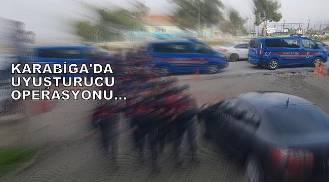 KARABİGA'DA UYUŞTURUCU OPERASYONUNA 3 TUTUKLAMA