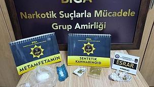BİGA' DA NARKOTİK POLİSLERİ BAYRAMDA DA ZEHİR TACİRLERİNE GÖZ AÇTIRMADI